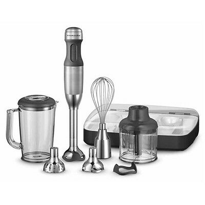 NEW KitchenAid Deluxe Hand Blender - Stainless Steel