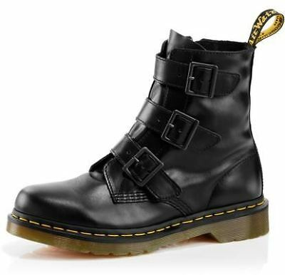 New Doc Martens Women's Leather Casual 3 Strap Buckle Zip Boot Blake Cheap
