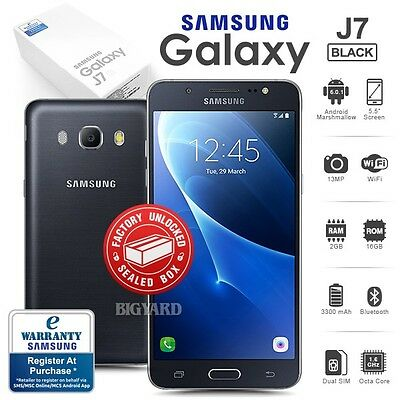 New Factory Unlocked Sealed SAMSUNG Galaxy J7 SM-J710G Black Android Smartphone