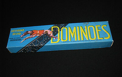 1950s vintage game DOMINOES Greyhound Brand Made in England SPEAR & SONS LTD