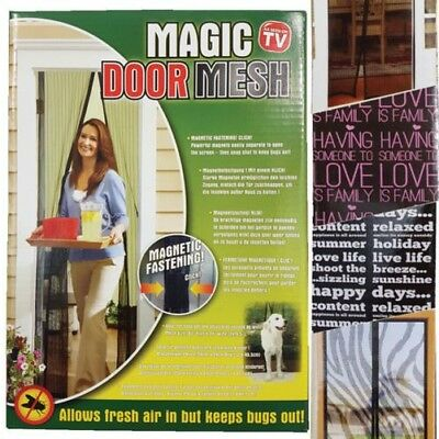 Insect Protection Door Curtain 99x210cm Magnetic Fly Screen Mosquito Repellent