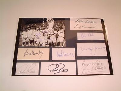Leeds United Fc 1972 Fa Cup Final Don Revie & Billy Bremner Signed (Pre-Printed)