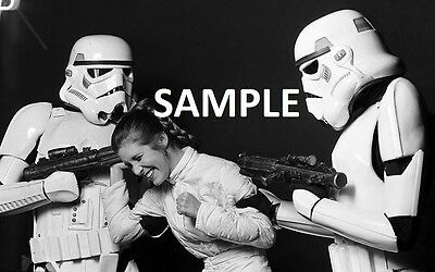 """Carrie Fisher  Princess Leia 8"""" x 6"""" Star Wars Behind The Scenes Photo Print"""