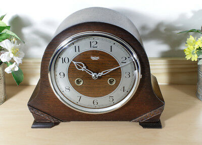 Nice Smiths Enfield 8 Day Striking clock  Excellent condition) Fully serviced)