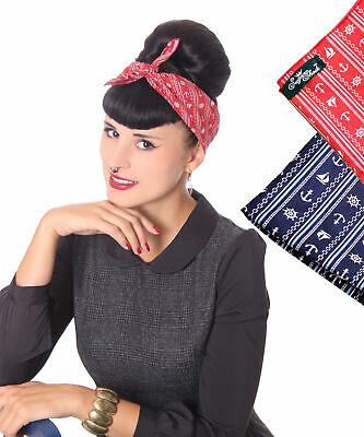 Sugarshock 50s Retro Anker Sailor Rockabilly Hairband Frisuren Haar