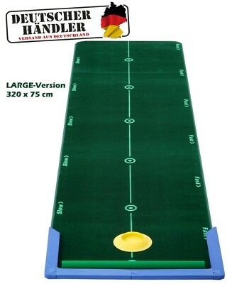 BEST TRACK Puttingmatte | LARGE - 320 x 75 cm | mit Puttingcup und Wischer - NEW
