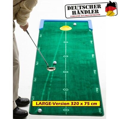 BEST TRACK Puttingmatte | LARGE-VERSION - 320x75 cm | Track Putting Mat L - NEW