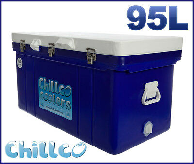 95L Chillco Ice Box Cooler Chilly Bin Superior Ice Retention-Rrp $430