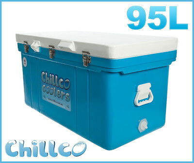 95L Chillco Ice Box Cooler Chilly Bin Ice Chest Superior Ice Retention-Rrp $430