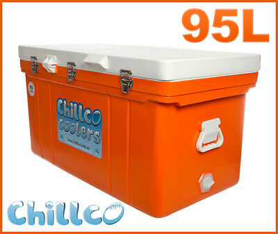 95L Chillco Ice Box Cooler Chilly Bin Superior Ice Retention - Rrp $430