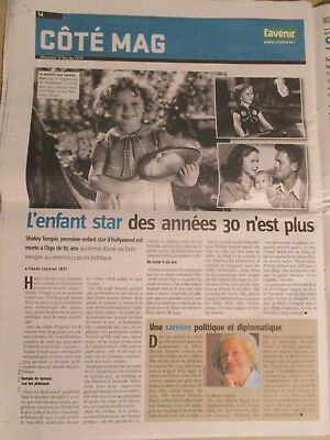Journal Du Deces De : Shirley Temple - 12/02/2014