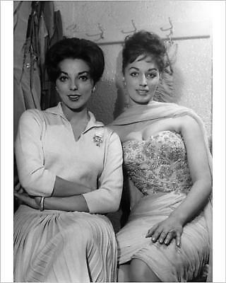 """10""""x8"""" (25x20cm) Print of Joan and Jackie Collins 1950s"""