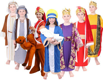 Kids Nativity Costumes Christmas Story School Play Fancy Dress Childs Boys Girls