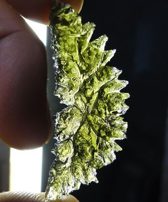 "22 ct Green Tektite MOLDAVITE - TOP Q ""HEDGEHOG""  - Czech Republic, BESEDNICE !"