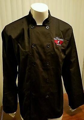 Chef Works Yin Yang Shirt Uniform Double Button Front Black Sushi Cook Large