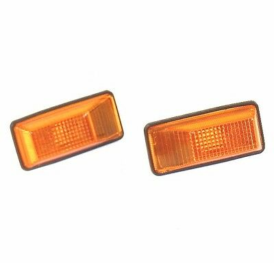 Peugeot 306 605 Citroen Xm Zx Side Wing Indicator Repeater Lamp Light Pair Amber