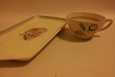 Susie Cooper Art Deco Tray And Tea Cup 1930s/40s Vintage Pottery