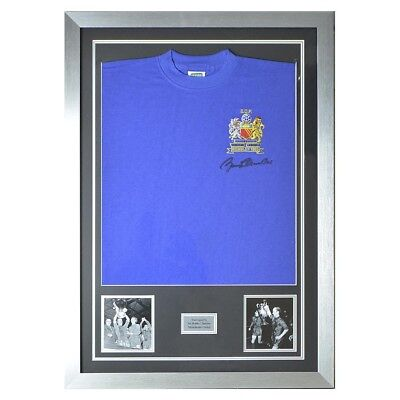Bobby Charlton Man Utd 1968 Blue Shirt framed
