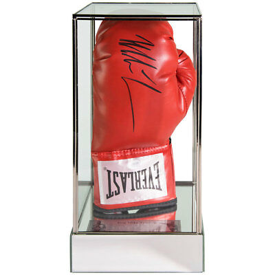 Signed Iron Mike Tyson Boxing Red Glove in Acrylic Case Heavy Weight Champ