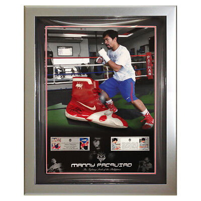 Signed & Worn by Manny Pacquiao Nike Boxing Boots - Bradley 3 Training