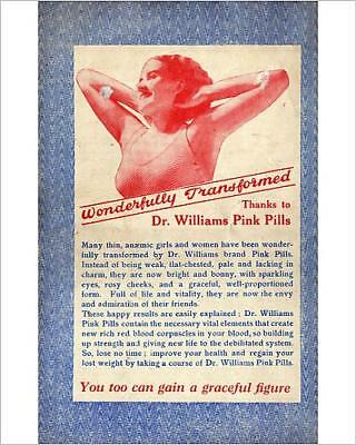 """10""""x8"""" (25x20cm) Print Advertisement, Dr Williams pink pills for pa..."""