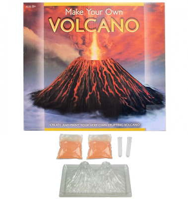 NEW DOUBLE VOLCANO ERUPTION PLAY KIT EDUCATIONAL SCHOOL HOME SCIENCE PLAYSET