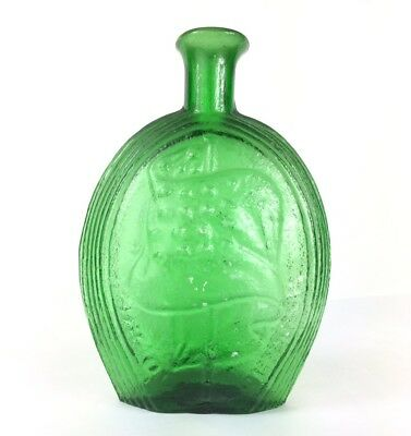 Eagle Glass Medicine Bottle Green Color 7.25 Inches Tall