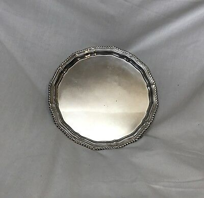 Antique English Sterling Silver Salver 20th Century