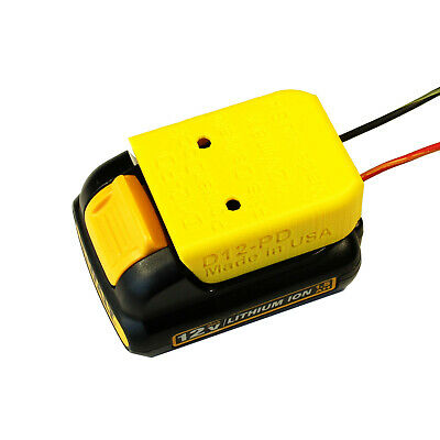 DCB-12x Power Dock for DeWalt Battery, wired 14AWG, fits 12Vmax, PN# D12-PD-14