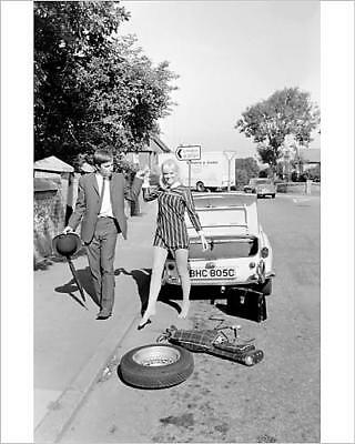 """10""""x8"""" (25x20cm) Print of Female contortionist Diana Gaye and car boot"""