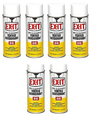 EXIT Industrial Fabric Spray & Deodorizer Great for Pet Odors Too - 6 Cans