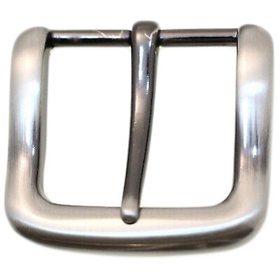 Square Replacement Belt Buckle For 1 1/4 Inch Width Brushed Gun Metal Finish