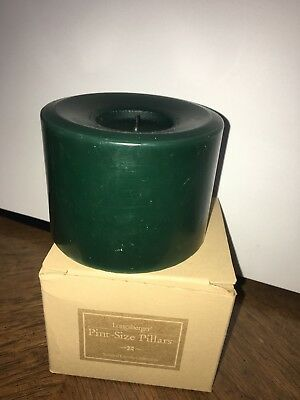 longaberger candle, scented in Fresh Cut Grass, green and medium sized!