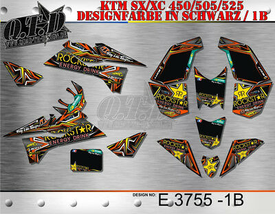 Motostyle-Mx Dekor Kit Für Atv Ktm 450 505 525 Sx Xc Graphic Kit E3755 B