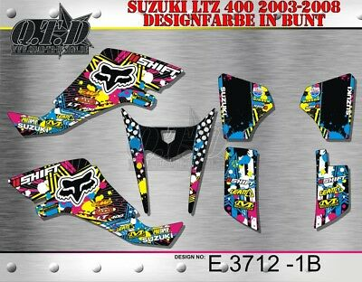 Motostyle Dekor Kit Atv Suzuki Ltz 400 2003-2008 Graphic Kit E3712 B