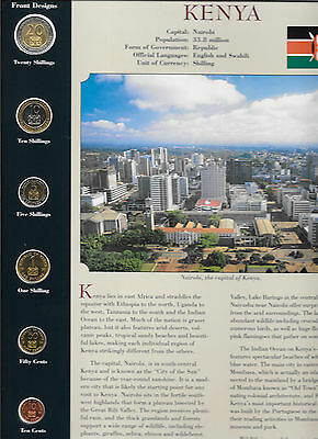Coins from Around the World Kenya 1994 - 1998 BU UNC 20 shillings 1998, 10s 1994