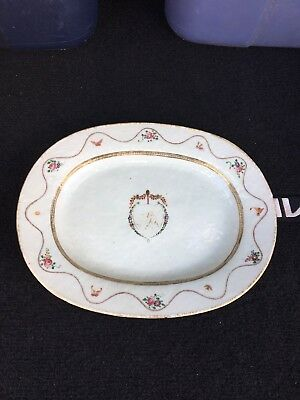 """Early 19th Century 10 1/4"""" Chinese Export Porcelain Platter"""