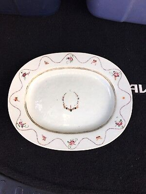 """Early 19th Century 11 5/8"""" Chinese Export Porcelain Platter"""