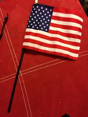 VINTAGE MADAME ALEXANDER Lot Of 3 American Flags For Dolls In Mint Condition