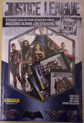 Justice League Movie ~ Panini Sticker Collection ~ Starter Pack Inc 26 Stickers
