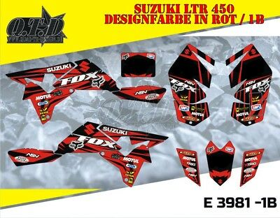 Motostyle Mx Dekor Kit Atv Suzuki Ltr 450 Graphic Kit Fox E3981 B