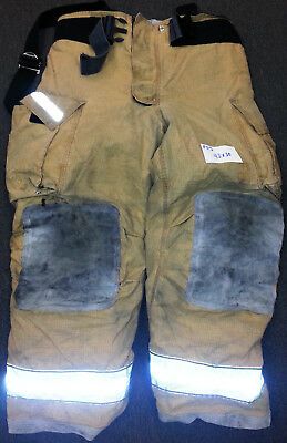 42x30 Pants Suspenders Firefighter Turnout Bunker Fire Gear Globe Gxtreme P713