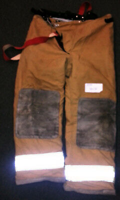 40x30 Pants With Suspenders Firefighter Turnout Bunker Fire Gear Globe  P714
