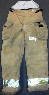 38x36 Firefighter Pants Bunker Fire Turn Out Gear Tan Brown Globe GX-7  P769
