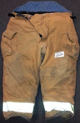 58x28 Firefighter Pants Bunker Fire Turn Out Gear Tan Brown Globe GX-7  P770