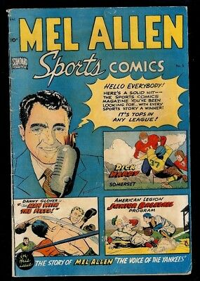 Mel Allen Sports #5-Voice Of The Yankees 1949 Nice Sports Comic