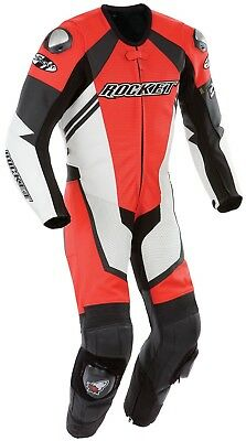 Joe Rocket 44 Red/White Speedmaster 6.0 One Piece Leather Race Motorcycle Suit