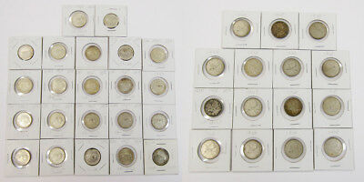 * Canada * Mixed Lot Of 37 * 50% Silver Quarters * 1967 & 1968 Last Years *