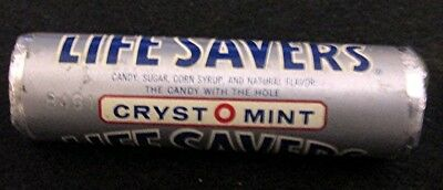 Vintage Old 1950's 1960s 7/8 in. Unopened Roll Life Savers Candy CRYST O MINT