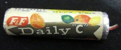 Vintage Old 1950's 7/8 in. Unopened Roll Candy F & F Daily C